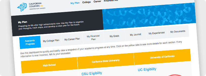 CaliforniaColleges.edu Screenshot