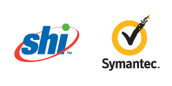 SHI and Symantec logos